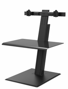 QuickStand Eco Dual Monitor Sit Stand Desktop, black