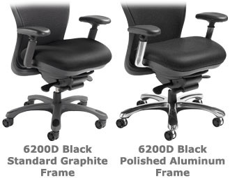 Nightingale CXO Heavy Duty High Back Executive Chair Optional polished aluminum trim kit