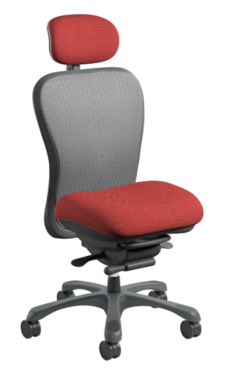 Nightingale CXO Intensive High Back Task Chair, with Silver Mesh Back option, Burgundy seat and no arms