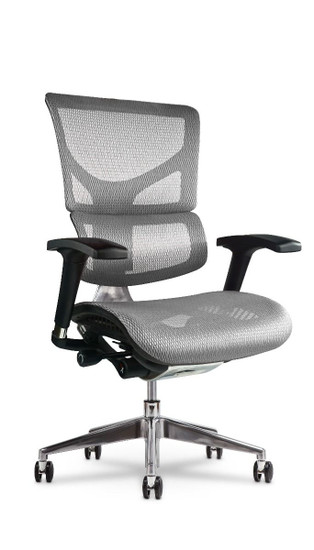 X2 Executive Task Chair without Headrest, in White K-Sport Mesh