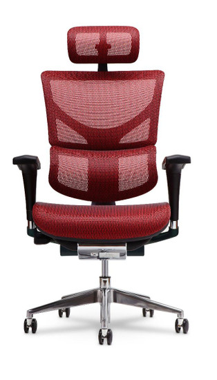 X2 Executive Task Chair with Headrest, in Red K-Sport Mesh