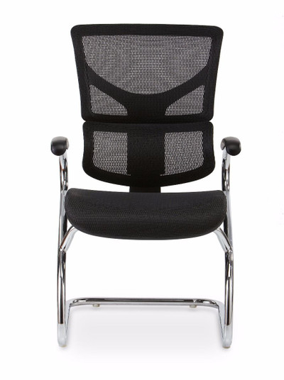 Optional X-Side chair with proprietary Dynamic Variable Lumbar support and Flex Mesh Technology in black ONLY