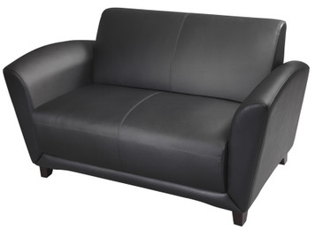Mayline Santa Cruz Settee Black Leather