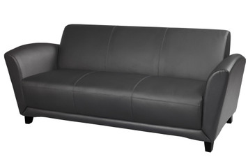 Mayline Santa Cruz Sofa in Black Leather