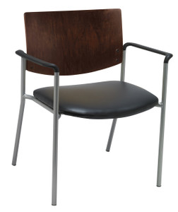 Evolve Oversized Upholstered Guest with Espresso Wood Back and arms