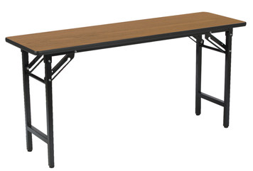 "Oak Folding Table, 18"" x 60"""