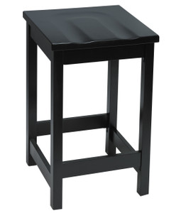 "Eastwood Wood Cafe 30"" Barstool, Black wood finish *ONLY quickship version!"