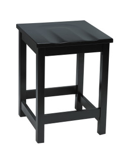 "Eastwood Wood Cafe 24"" Counter Height Stool, *Black wood seat ships in 2-3 days"