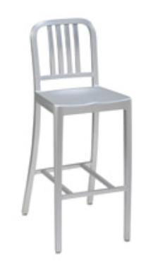 Brushed Aluminum Barstool