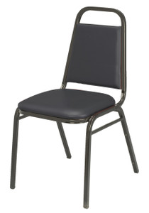 IM Series Stacking Event Chair, Black Vinyl