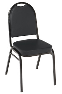 IM 520 Stacking Event Chair, Black Vinyl