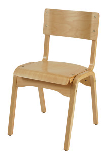 Specialty Wood Stacking Guest Chair in Natural Beechwood