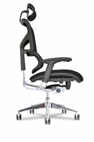 X3 Management Task Chair, black side, with headrest