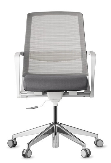 Tizu Work chair with Black frame and Graphite seat and Graphite mesh