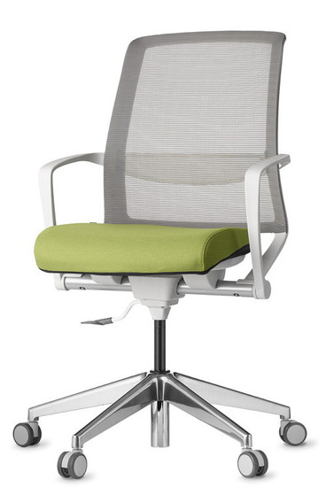 Tizu Work chair with Black frame and Wasabi seat and Graphite mesh