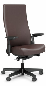 Knoll Remix High Back Volo in Coffee Bean Leather