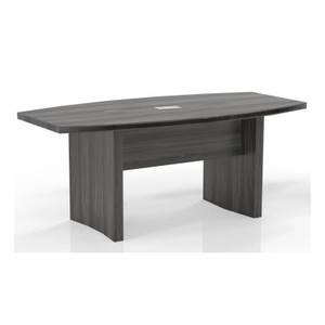 Mayline Aberdeen Wood Laminate 6' Boat Surface Conference Table With Grey Steel Finish