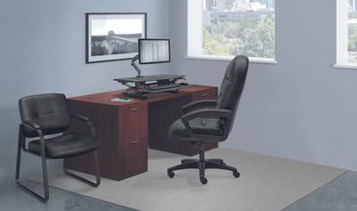 Hon Foundation Small Office Double Pedestal Desk Officechairsusa
