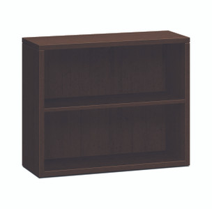 10500 Series Woodgrain Laminate Bookcases, Two Shelf in Mocha MO
