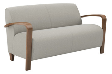 Reno 2 Seat Sofa with Wood Arms & Legs
