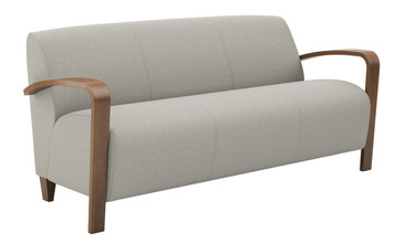 Reno 3 Seat Sofa with Wood Arms & Legs