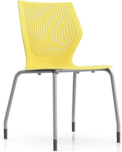 Knoll MultiGeneration Armless Stacking Chair in Yellow (YW)