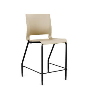 SitOnIt Rio Stool Counter Height with black frame and Bisque shell