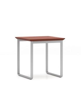 Gansett End Table with silver frame