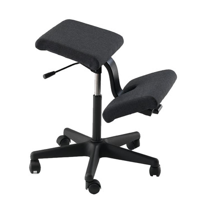 Ergonomic kneeling office chairs Pregnant Lady Varier Wing Kneeling Chair In Black Fame Fabric Officechairsusacom Varier Wing Kneeling Chair Ergonomic Kneeling Office Chair