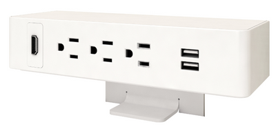 Ashley Trio Surface Power Module, white plastic and white trim *Ships in 2 days!