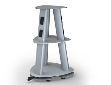 Isle Freestanding Power Tower Module, silver pearl