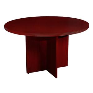 """Mayline Luminary Wood Veneer 36"""" Round Table with Cherry Finish"""