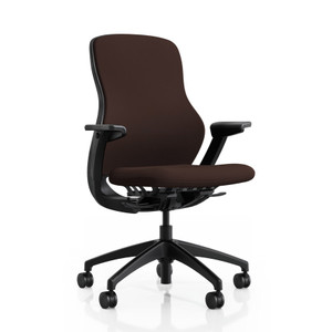 Knoll ReGeneration Fully Upholstered with height adjustable arms in Espresso