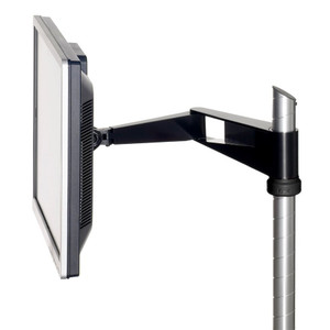 Knoll Sapper Single Monitor Arm with Jet Black Finish and Black Knob
