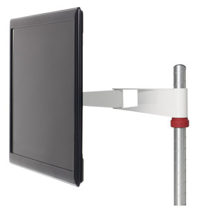 Knoll Sapper50 Monitor Arm with Bright White and Red Knob