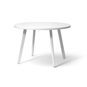 Knoll Rockwell Unscripted® Easy Table Round, White 42""