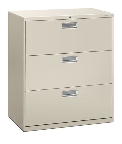 "Brigade 600 Series Three Drawer Lateral File, 36"" in Light Grey (Q)"