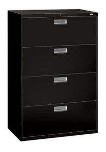 "Brigade 600 Series Four Drawer Lateral File, 36"" in Black (P)"