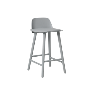 Muuto Nerd Counter Height Stool, Grey