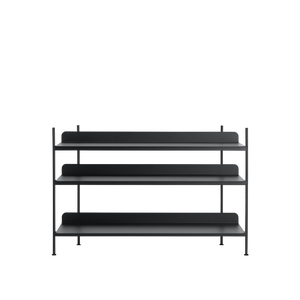 Muuto Compile Shelving System, Config 2 Black