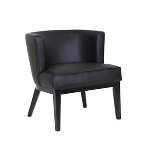 Ava Accent Guest Chair, black with black legs