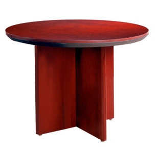 "Mayline Corsica Wood Veneer 42"" Round Conference Table with Sierra Cherry Finish"