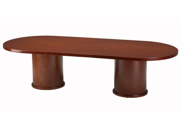 Mayline Mira Wood Veneer 8' Racetrack Conference Table with Medium Cherry Finish