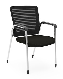Eon Guest Arm Chair, black frame and mesh