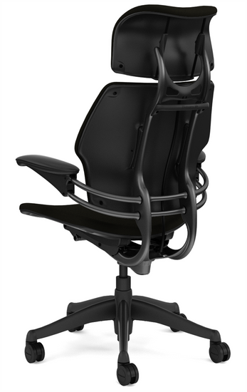 Humanscale Freedom Quick Ship Executive Task Chair Rear profile
