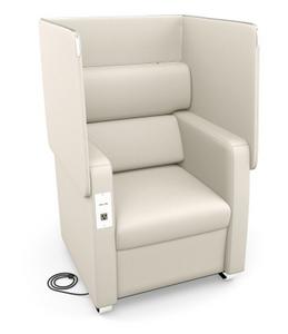 Morph Series Privacy Chair, Linen Vinyl