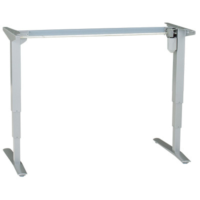 501-43 Electric Sit-Stand Base ONLY, silver