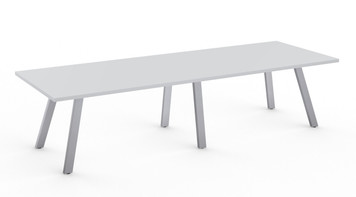 Aim XL 10' Conference Table with Silver base and Fashion Gray HPL