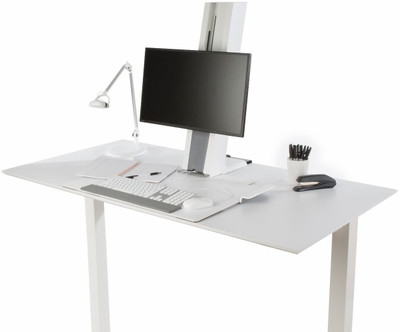 Humanscale QuickStand Small Platform with White with Gray Trim Finish