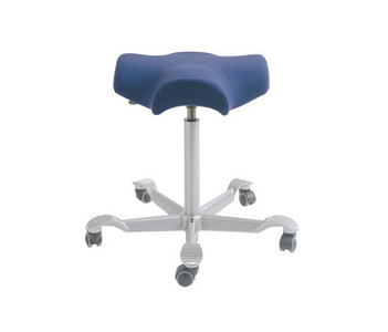 HAG Capisco 8105 Saddle Seat Stool  in Silver Foot-base Purple Textile